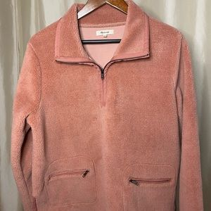 MADEWELL sherpa pullover (pink)